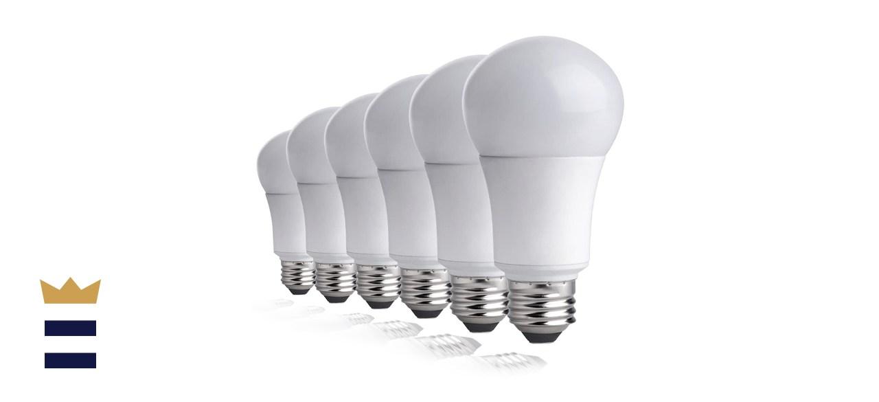 TCP LA927KND6 6 Pack 60-Watt Equivalent Soft White Dimmable LED Light Bulbs