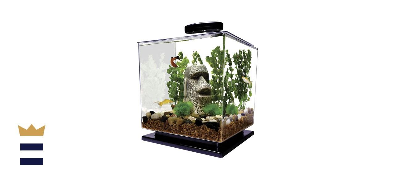 Tetra LED Cube-Shaped 3-Gallon Aquarium with Pedestal Base