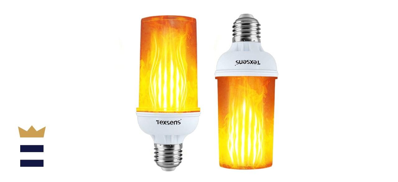 Texsens LED Flame Effect Light Bulb