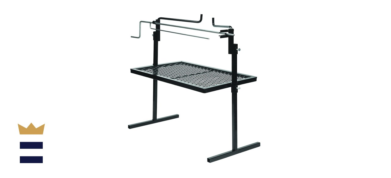 Texsport Adjustable Outdoor Camping Rotisserie and Grill