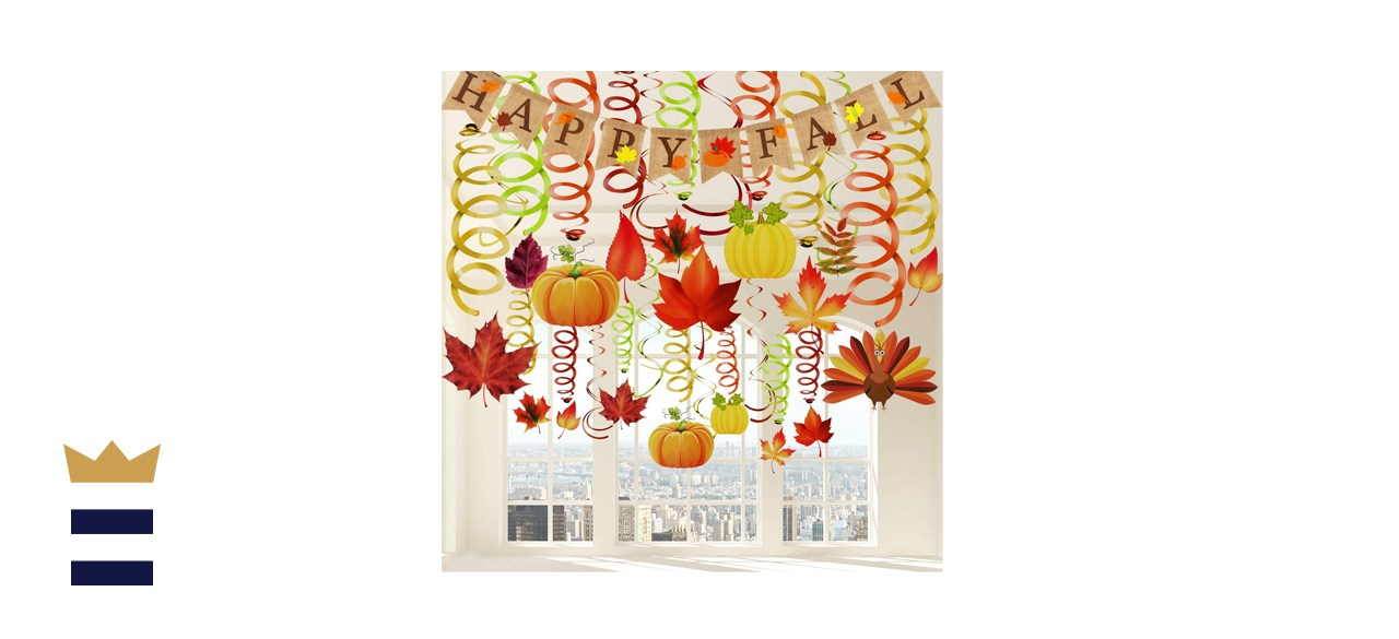 41 Pieces Thanksgiving Hanging Swirl Decorations