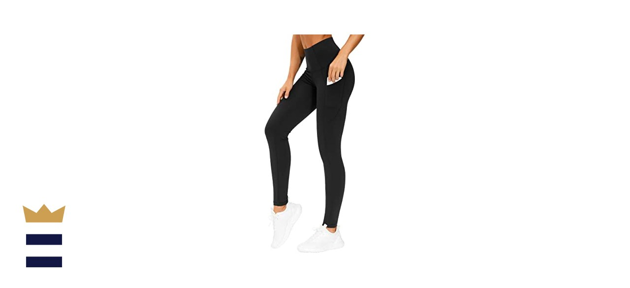 The Gym People Thick High Waist Yoga Pants with Pockets