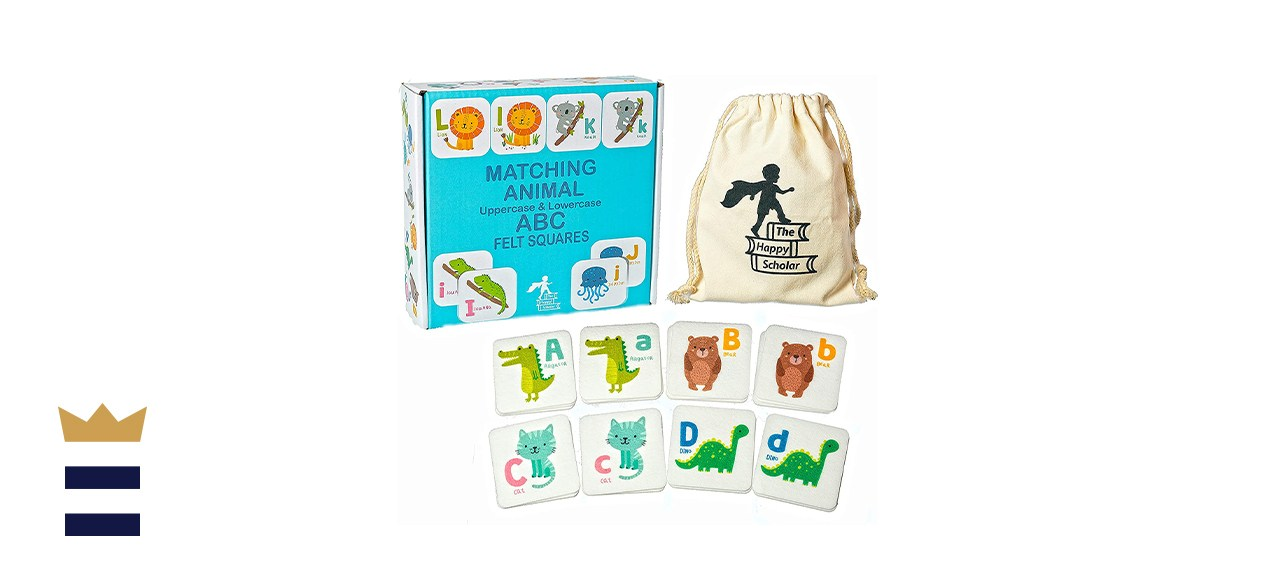 The Happy Scholar Matching Animal Felt Alphabet Flash Cards