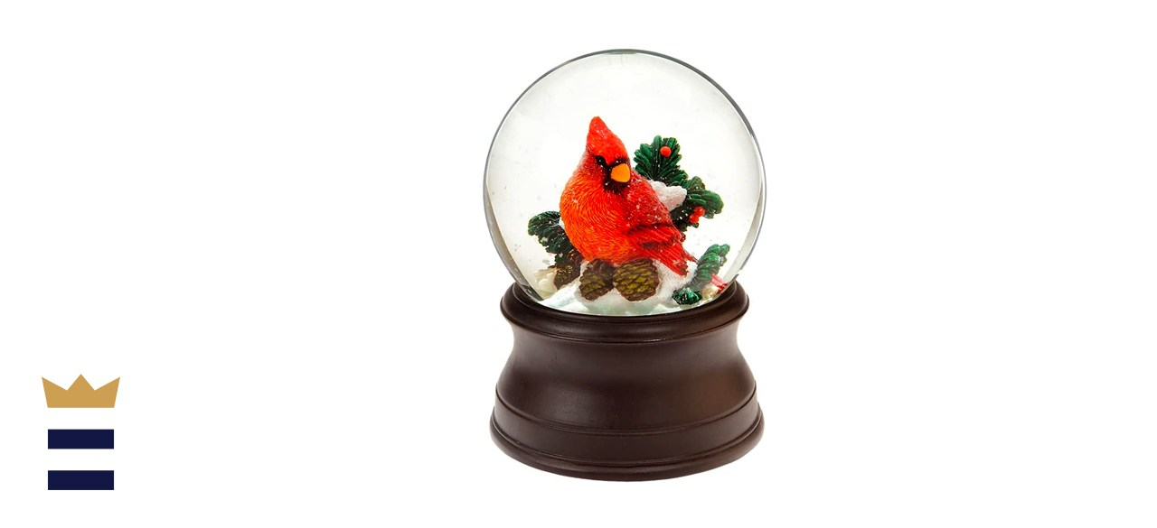 The San Francisco Music Box Company Hand-Crafted Cardinal Snow Globe