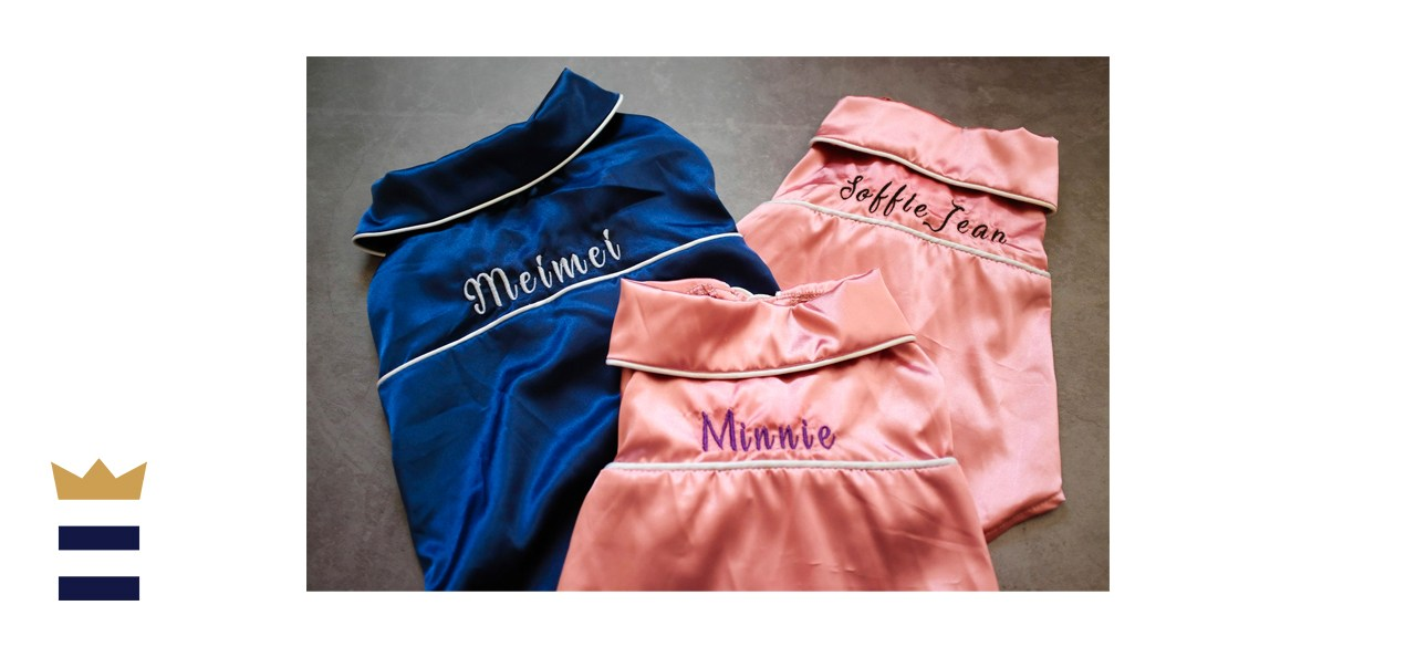 ThePetssential Personalized Silk Pajamas for Small Dogs and Cats