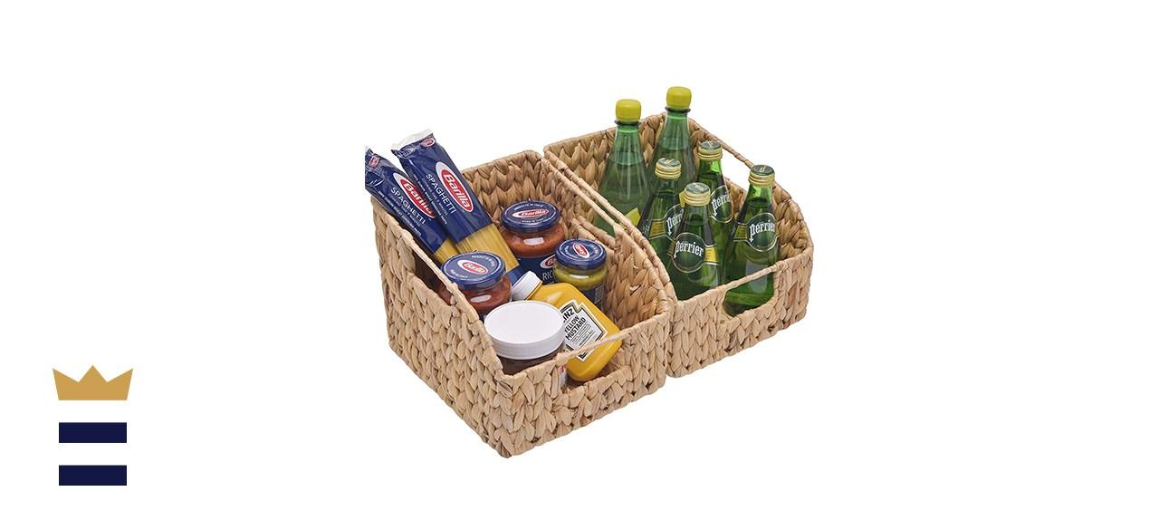 StorageWorks Water Hyacinth Wicker Baskets