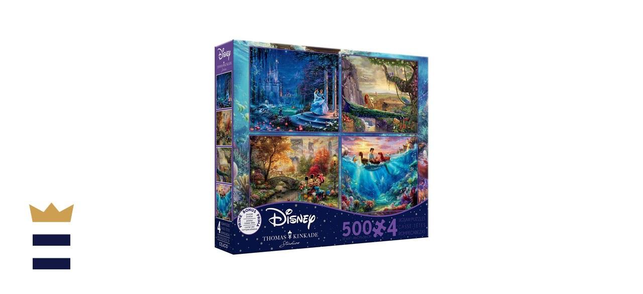 Thomas Kincade Disney Dreams 4-in-1 Puzzle