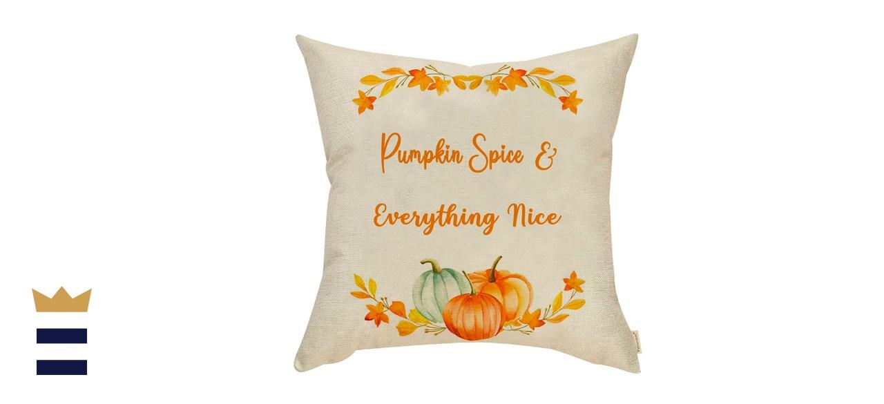 Fahrendom Fall Farmhouse Home Décor Pumpkin Decorative Throw Pillow