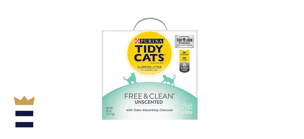 Purina Tidy Cats Free & Clean Lightweight Unscented Clumping Clay Cat Litter