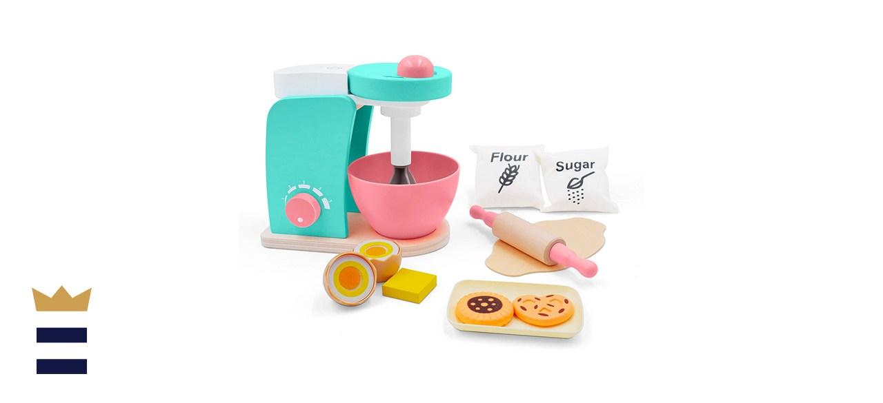 Tiny Land Wooden Toy Bake-Cookie Mixer Set