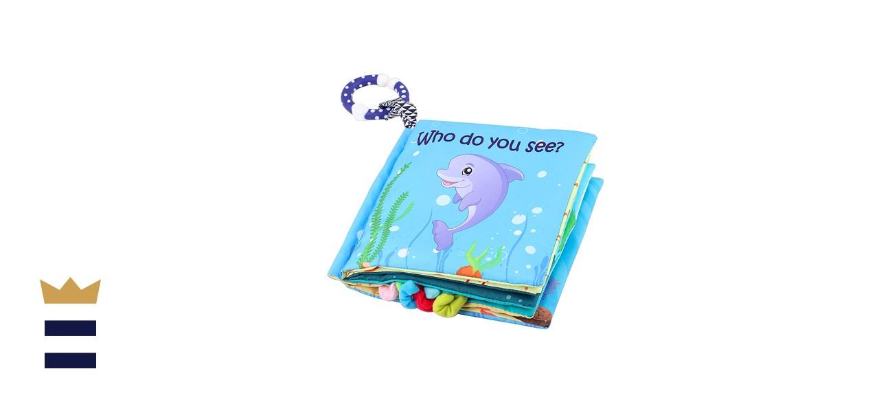 Tinzy Toys Soft Sea Animal Baby Book