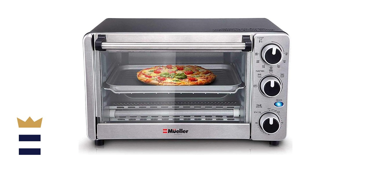 Toaster Oven 4 Slice, Multi-function Stainless Steel Finish with Timer