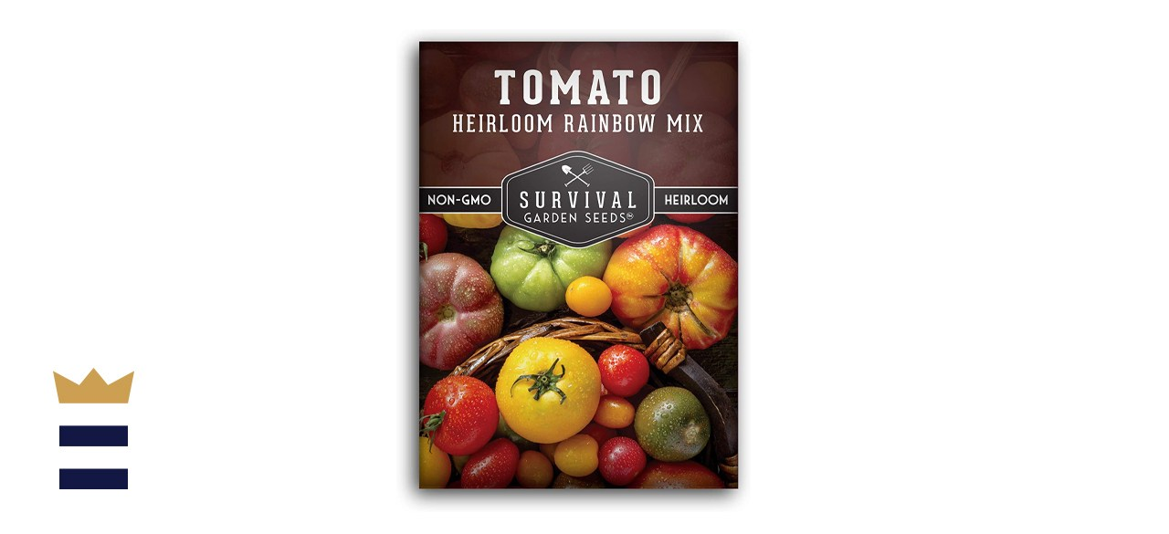 Survival Garden Seeds - Heirloom Rainbow Mix Tomato Seed for Planting