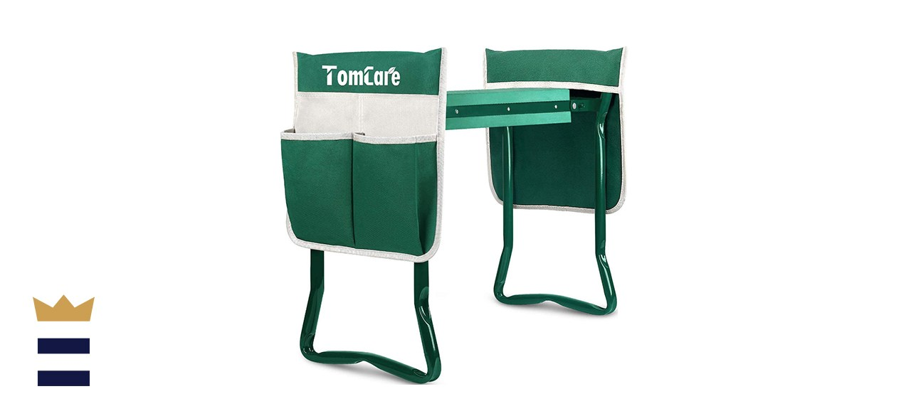 TomCare Upgraded Garden Kneeler Seat Widen Soft Kneeling Pad