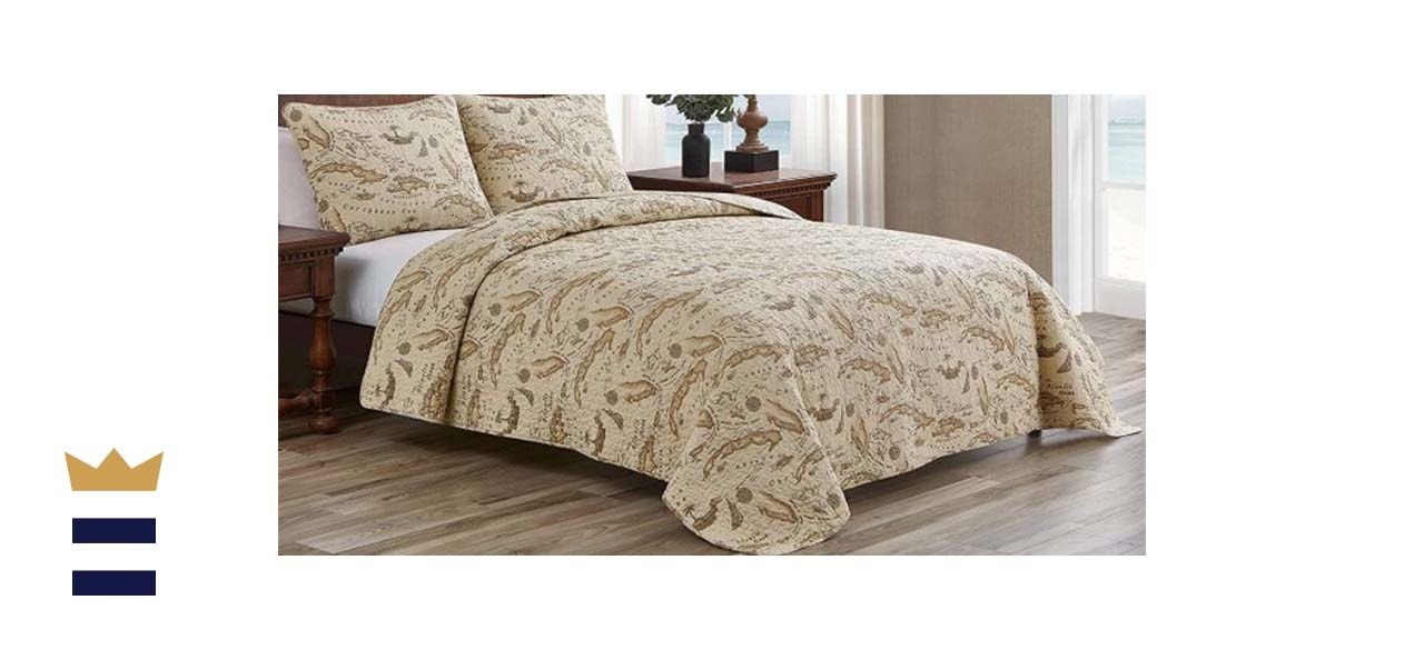 Tommy Bahama Map Collection Quilt Set