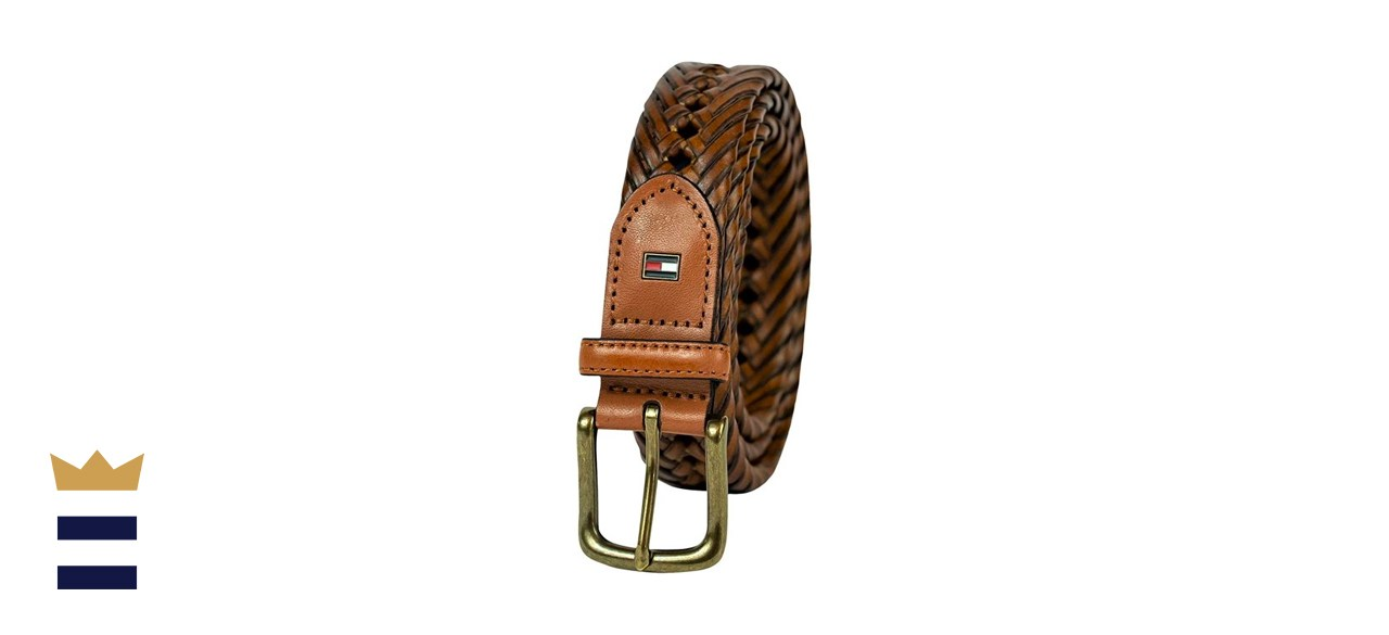 Tommy Hilfiger Braided Leather Belt
