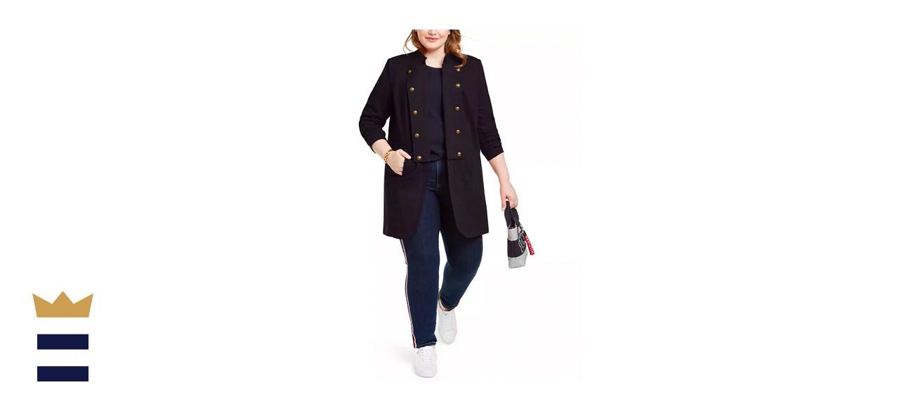 Tommy Hilfiger Plus Size Band Jacket