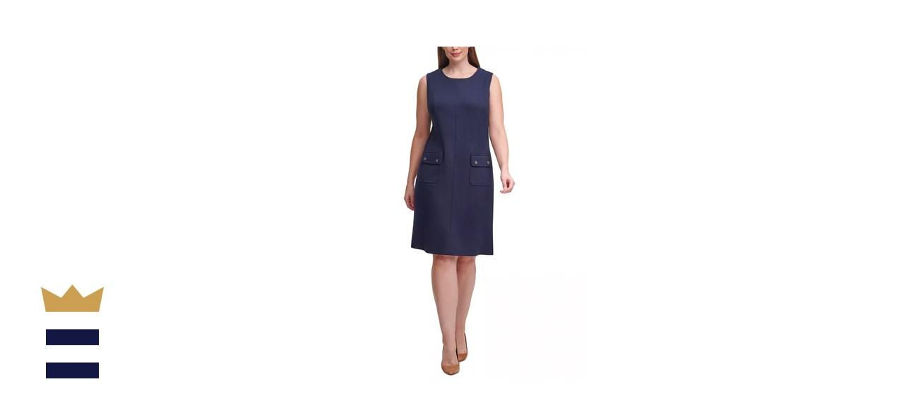 Tommy Hilfiger Plus-Size Scuba A-Line Dress