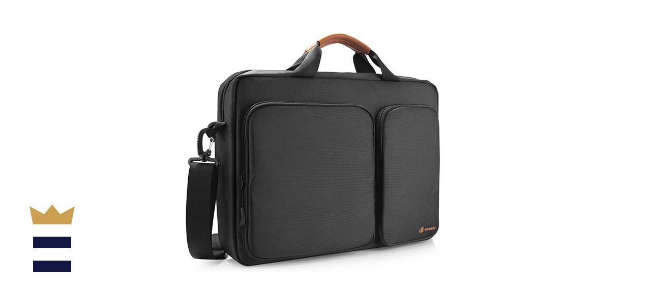tomtoc Travel Messenger Bag with Protective Laptop Compartment