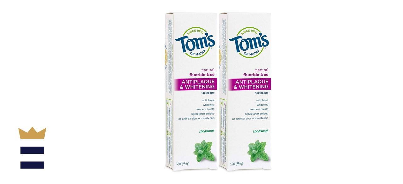Tom's of Maine Fluoride-Free Antiplaque & Whitening Natural Toothpaste