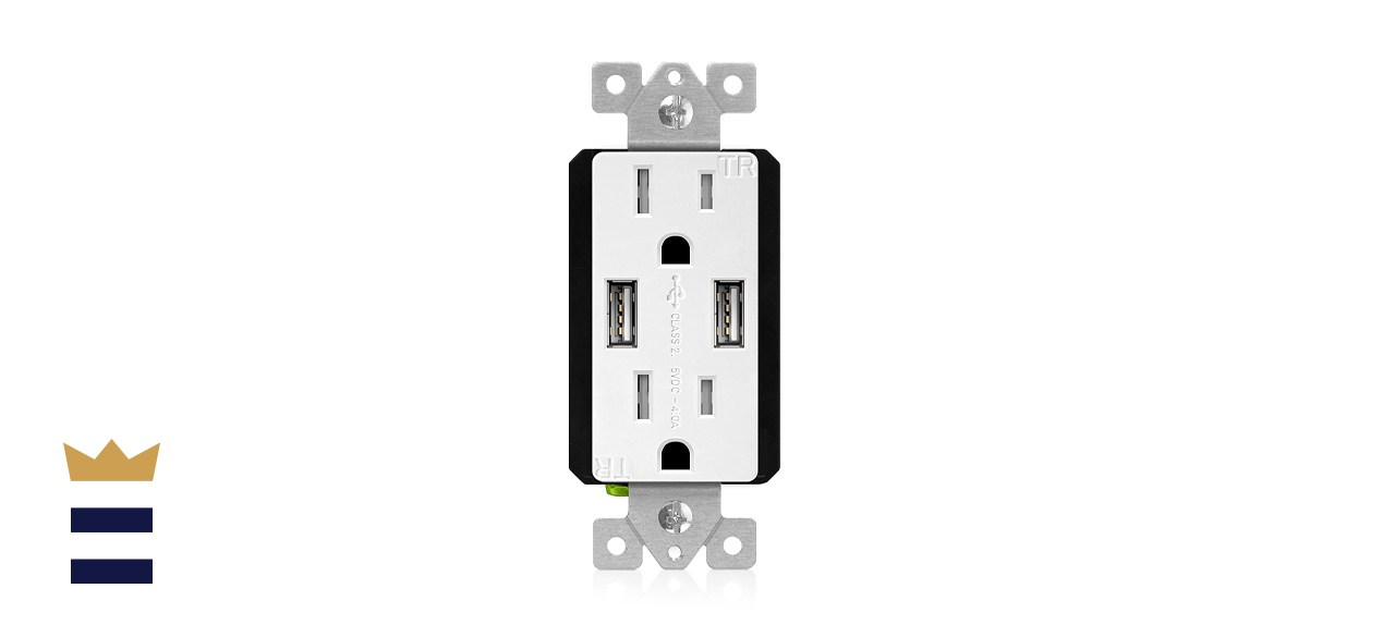 TOPGREENER Electrical Outlet with USB Ports