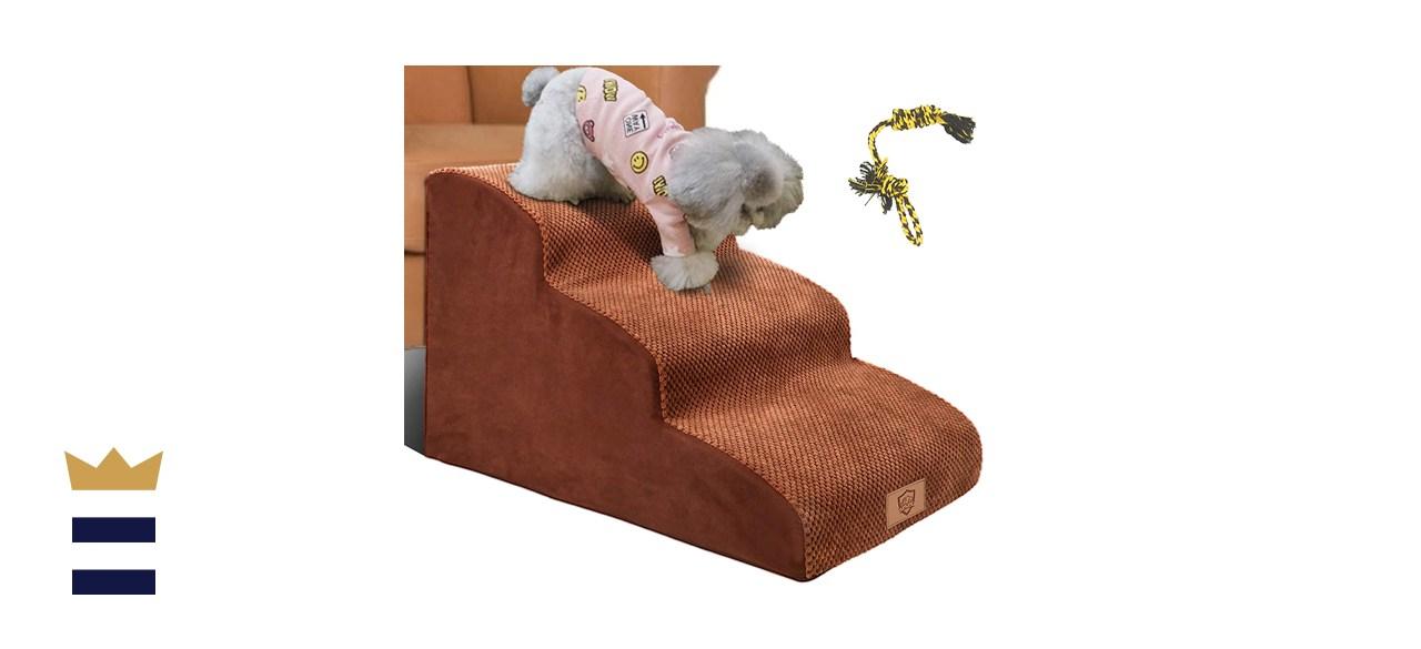 Topmart 3 Tier Foam Dog Ramp Steps