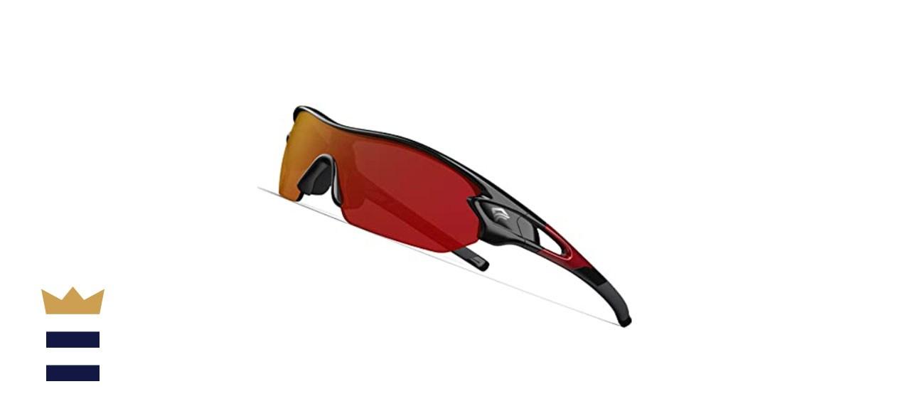 Torege Polarized Sports Sunglasses w/Interchangeable Lenses