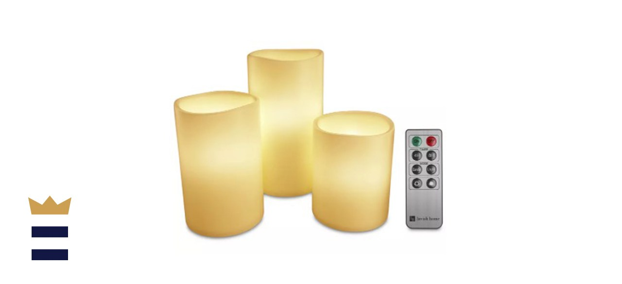 Trademark Global 4-Pc. Flameless LED Candles Set & Remote Control