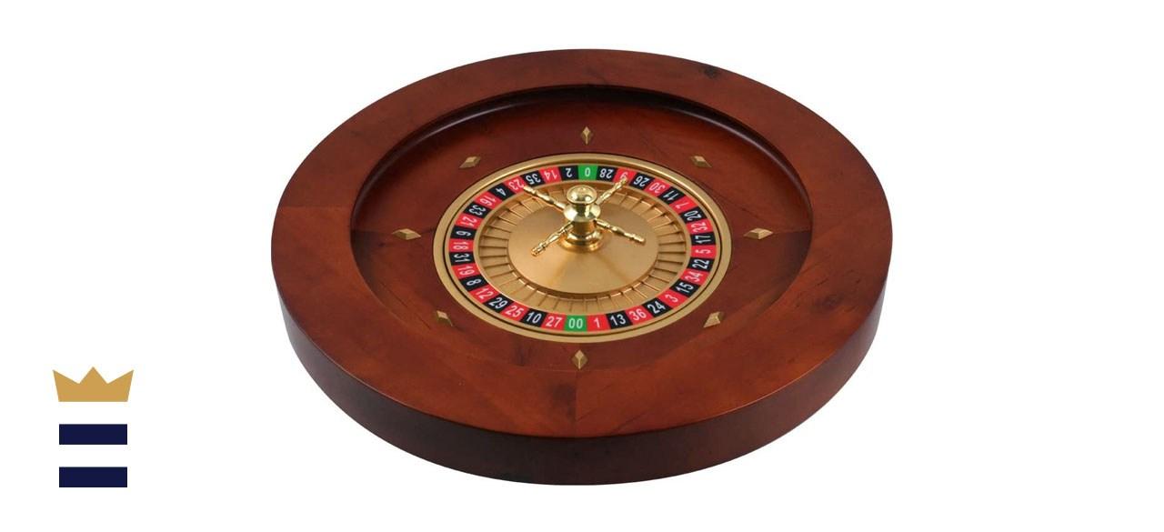 Trademark Poker Deluxe Wooden Roulette Wheel