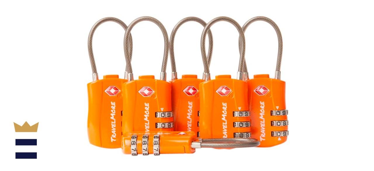 TravelMore TSA-Approved Cable Luggage Lock Set