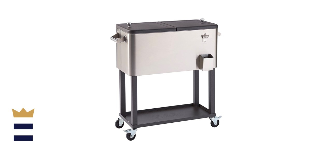 Trinity Stainless Steel Cooler with Shelf