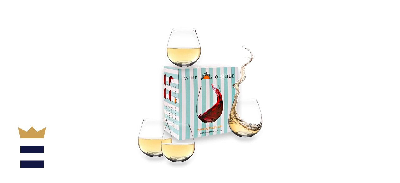 Tritan stemless wine glasses