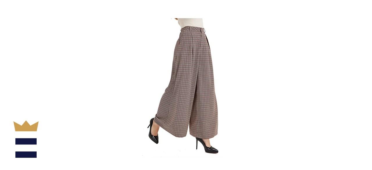 Tronjori High-Waist Wide-Leg Pants