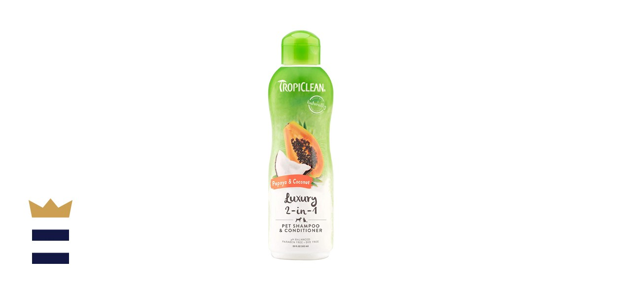 TropiClean Papaya and Coconut Luxury 2-in-1 Shampoo and Conditioner