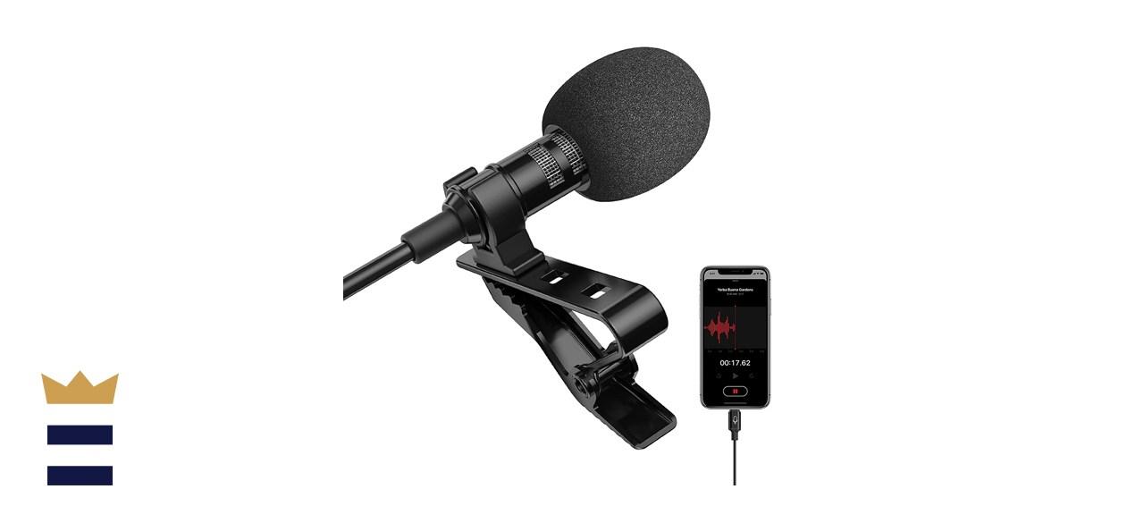Ttstar Professional Lavalier Lapel Microphone Omnidirectional Condenser Mic