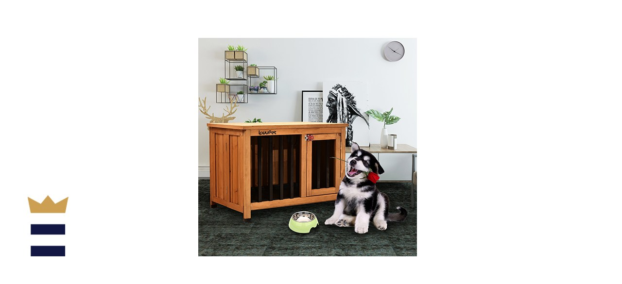 Tucker Murphy Gulley Wooden Portable Foldable Pet Crate