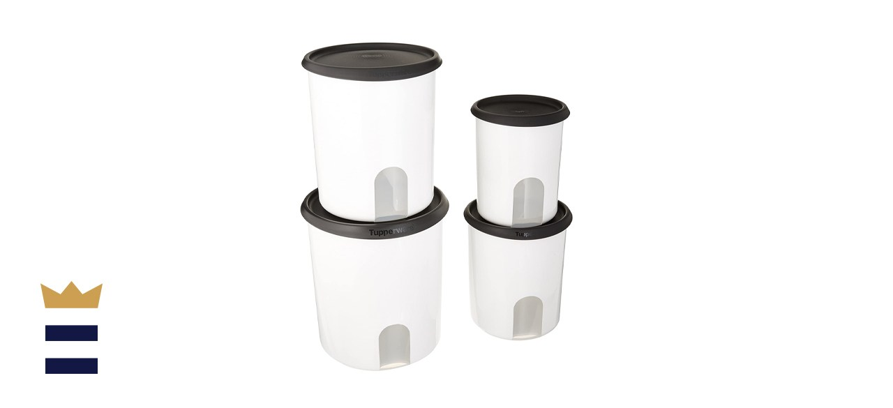 Tupperware One-Touch Reminder 4-Piece Canister Set