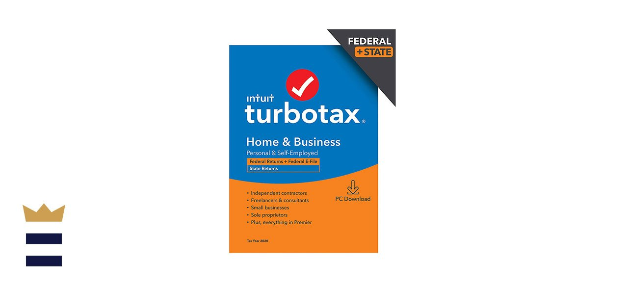 TurboTax Home & Business Desktop 2020 Tax Software, Federal and State Returns + Federal E-file