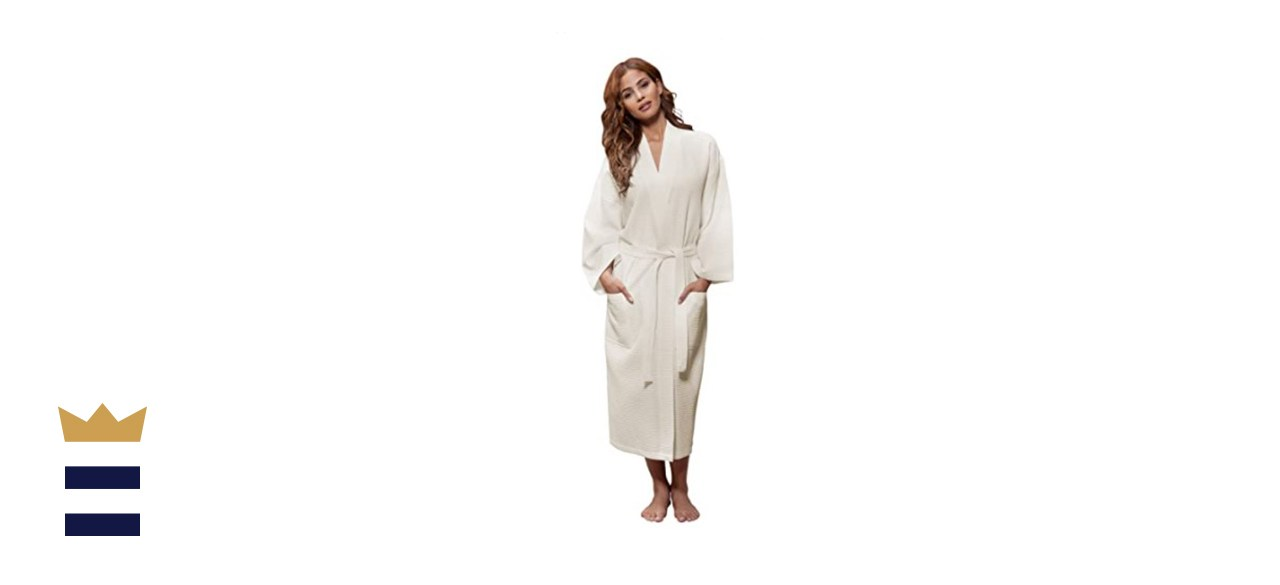 Turquaz Linen Unisex Lightweight Waffle Kimono