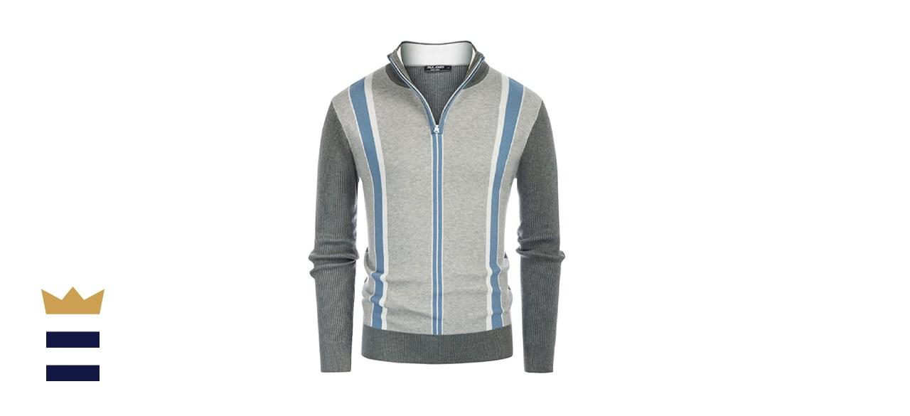 PJ Paul Jones Turtleneck Zip Stand Collar Pullover Sweater