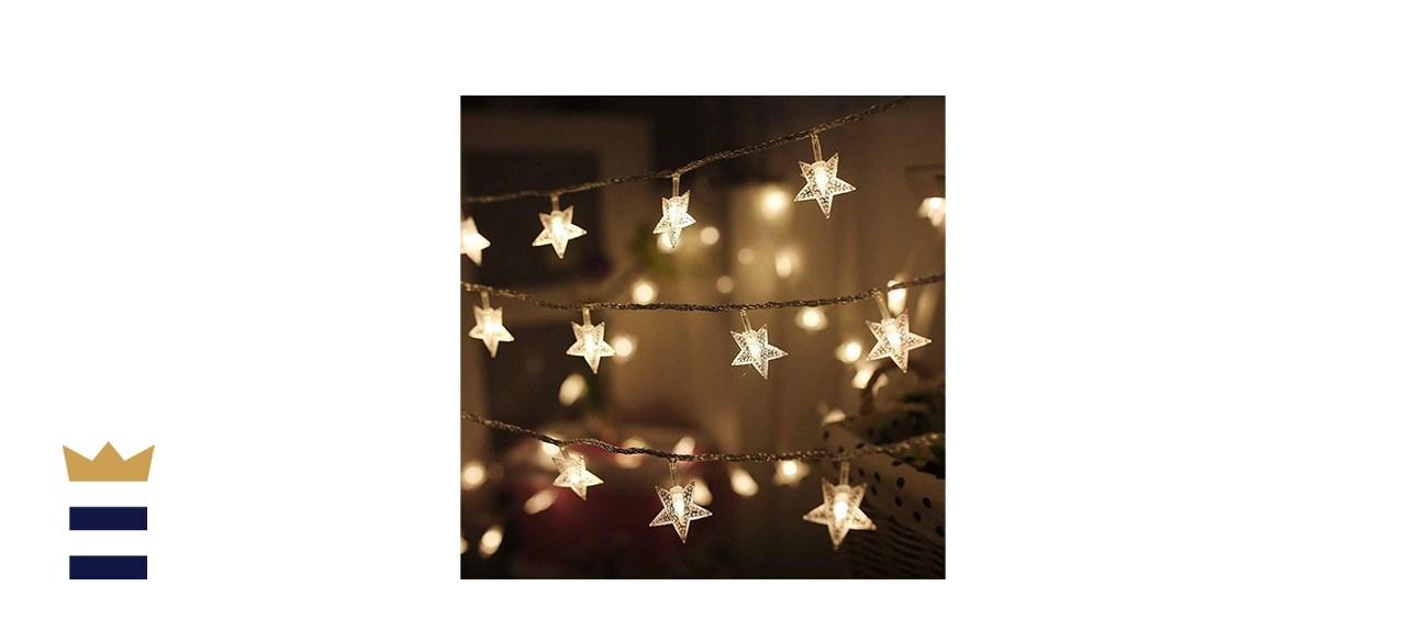 Twinkle Star LED Star String Lights