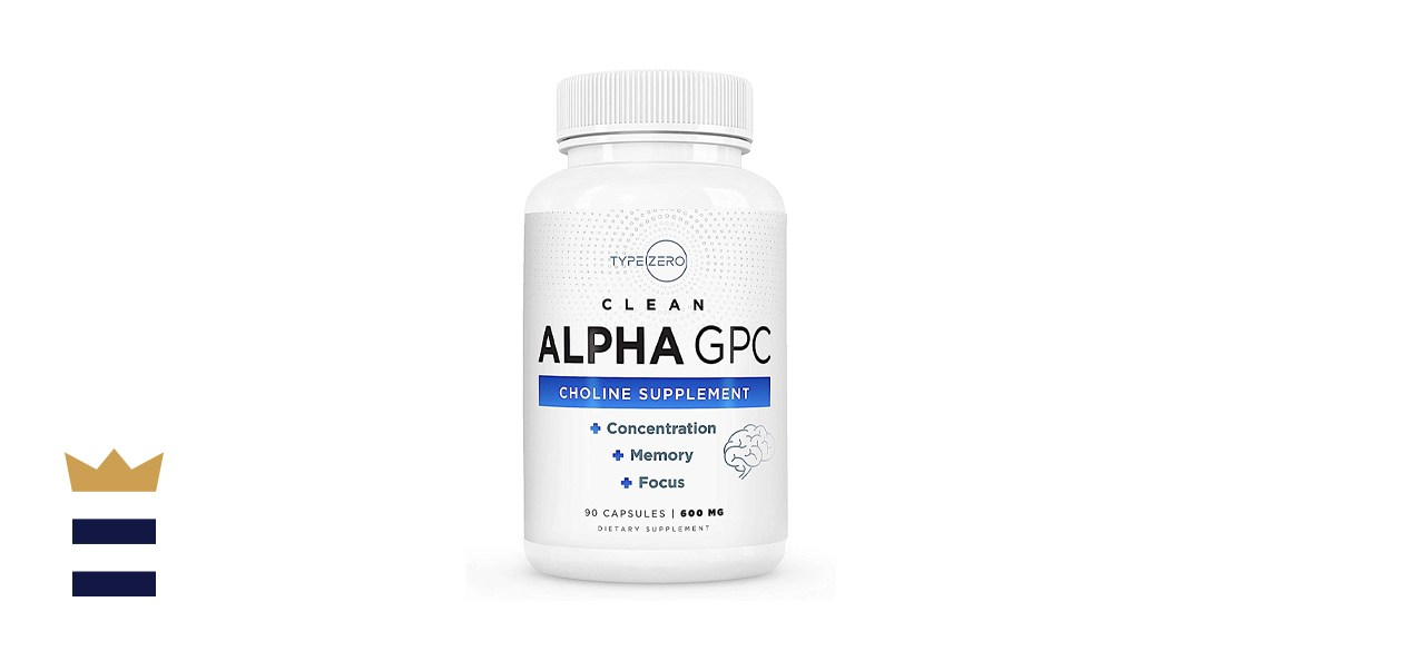 Type Zero Alpha GPC Choline Supplement 600 milligrams