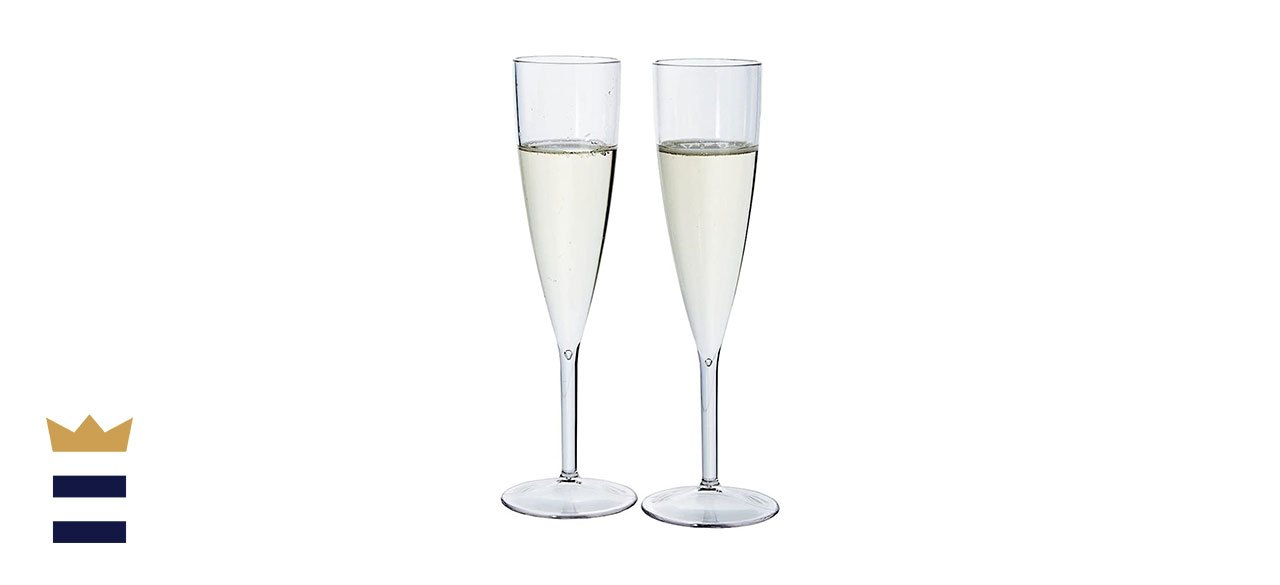 U.S. Acrylic's Premium Plastic Champagne Flute Set
