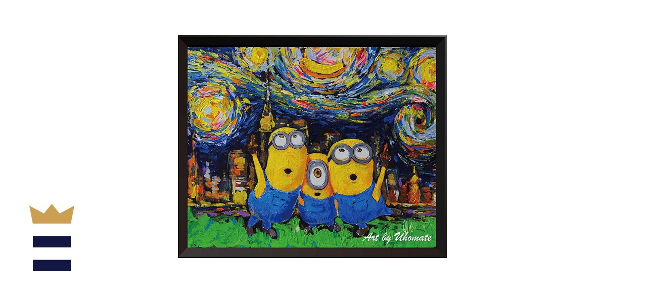 Uhomate Minion Inspired Vincent Van Gogh Starry Night Poster