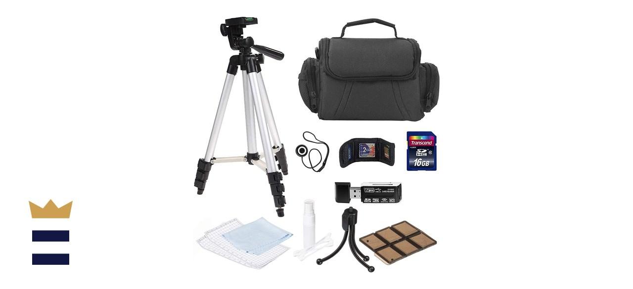 Professional Camera Accessory Bundle Kit for Canon, Nikon, Sony, Panasonic and Olympus Digital Cameras