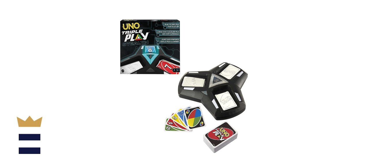UNO Triple Play Stealth Family Card Game