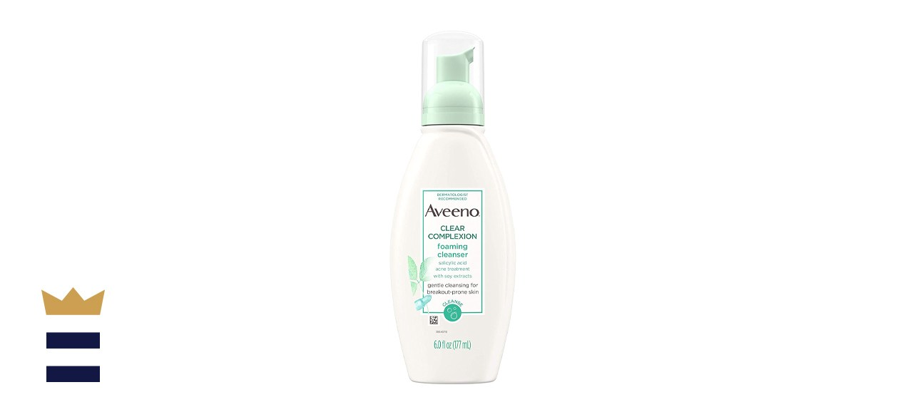 Unscented Aveeno Clear Complexion Foaming Facial Cleanser