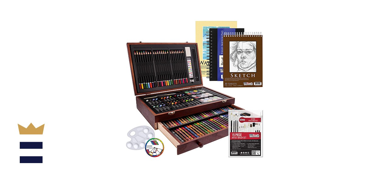US Art Supply 162-Piece Painting and Drawing Art Set