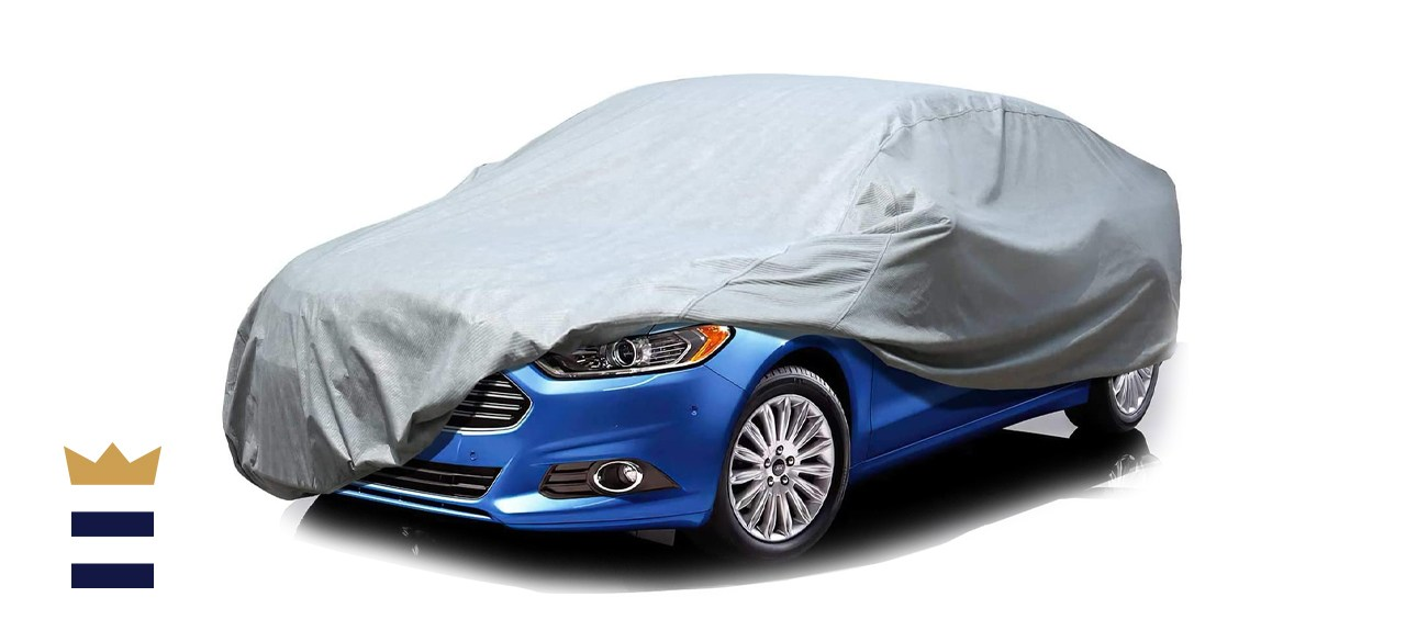 Leader Accessories Basic Guard 3 Layer Breathable Universal Fit Car Cover