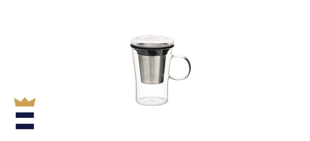 VAHDAM Sparkle-Glass Tea Cup with Infuser